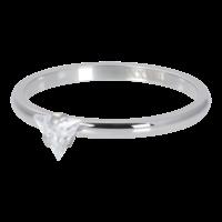 IXXXI JEWELRY RINGEN iXXXi Unterlegscheibe 2mm. Triangle Crystal Stone Silberfarbener Stainles-Stiel