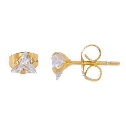 iXXXi JEWELRY iXXXi Jewelry Oorstekers  met Driehoekig Crystal  in goud verguld staal