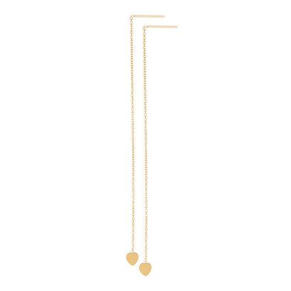 iXXXi JEWELRY iXXXi Jewelry Doortrek Ohrstecker vergoldeter Stahl mit Herz