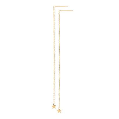 iXXXi JEWELRY iXXXi Jewelry Doortrek Ohrstecker aus vergoldetem Stahl mit Sternchen