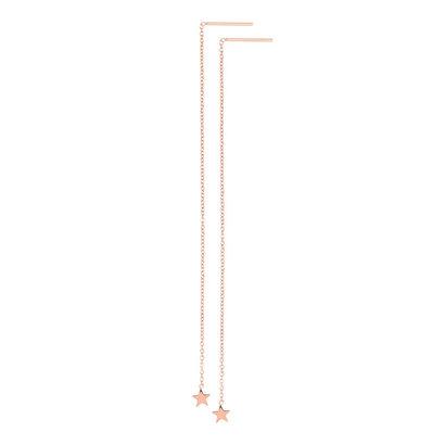 iXXXi JEWELRY iXXXi Jewelry Doortrek Oorstekers  rosegoud verguld staal met sterretje
