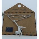 GO-DUTCH LABEL Go Dutch Label Necklace Monkey Silvery