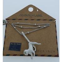 GO-DUTCH LABEL Gehen Sie Dutch Label Necklace Monkey Silvery
