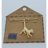GO-DUTCH LABEL Go Dutch Label Necklace Monkey Golden