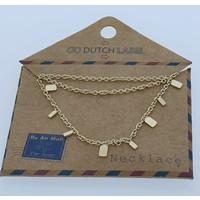 GO-DUTCH LABEL Go Dutch Label Rectangle necklace Gold