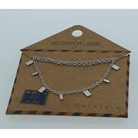 GO-DUTCH LABEL Go Dutch Label Rectangle necklace Silver colored