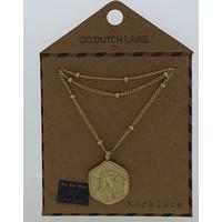GO-DUTCH LABEL Go Dutch Label Unicorn Gold necklace