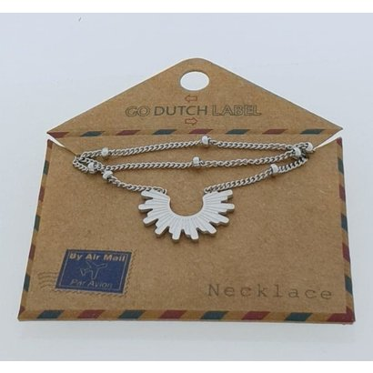GO-DUTCH LABEL Go Dutch Label Stainless Steel Necklace Short with pendant Silver colored