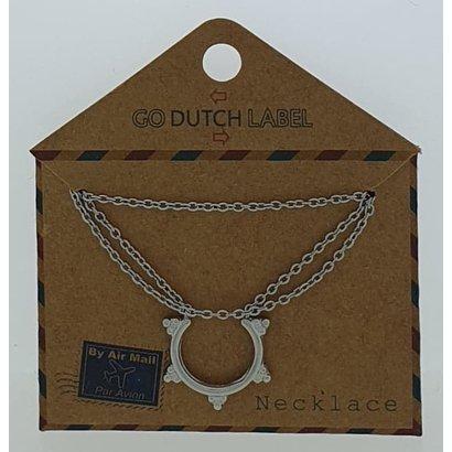 GO-DUTCH LABEL Go Dutch Label Edelstahl Collier Short mit Anhänger Bali Style Silberfarben