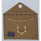 GO-DUTCH LABEL Go Dutch Label Halskette mit goldfarbenem Anhänger