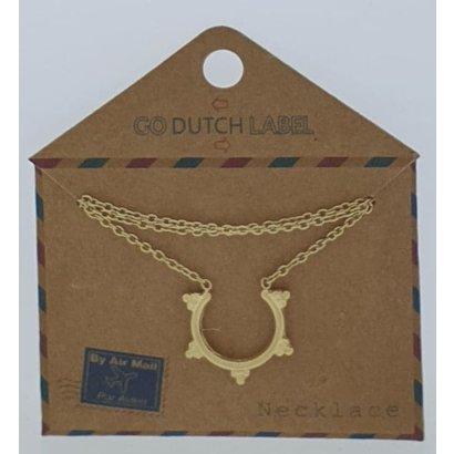 GO-DUTCH LABEL Go Dutch Label Edelstahl Collier Short mit Anhänger Bali Style Gold