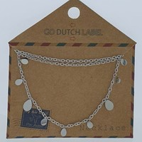 GO-DUTCH LABEL Go Dutch Label Kettinkje Drops Zilverkleurig