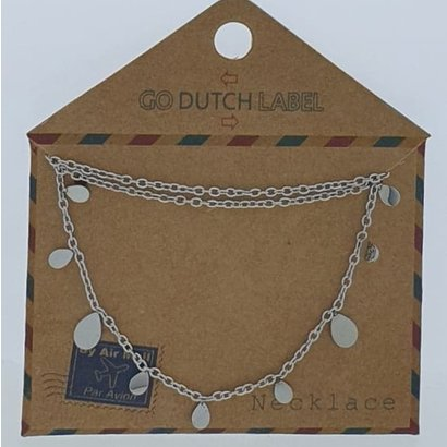 GO-DUTCH LABEL Go Dutch Label Stainless Steel Necklace Short Drops Silver colored