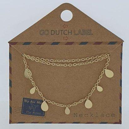 GO-DUTCH LABEL Go Dutch Label Edelstahl Halskette Short Drops Gold