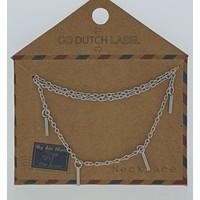 GO-DUTCH LABEL Go Dutch Label Necklace Bars Silver