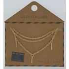 GO-DUTCH LABEL Gehen Sie Dutch Label Halskette Bars Gold
