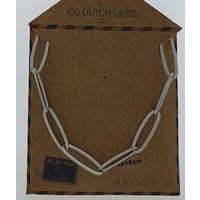GO-DUTCH LABEL Go Dutch Label Kettinkje Schakels Zilverkleurig