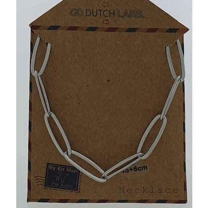 GO-DUTCH LABEL Go Dutch Label Stainless Steel Chain Links 45 cm. Silver colored