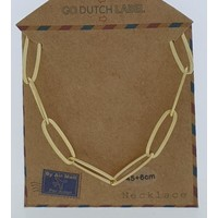 GO-DUTCH LABEL Go Dutch Label Kettinkje Schakels Goudkleurig
