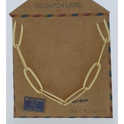 GO-DUTCH LABEL Go Dutch Label Stainless Steel Chain Links 45 cm. Gold colored