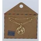 GO-DUTCH LABEL Go Dutch Label Halskette mit Anhänger World Gold