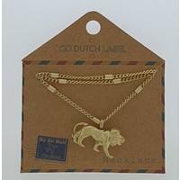 GO-DUTCH LABEL Go Dutch Label Necklace with pendant Golden gold