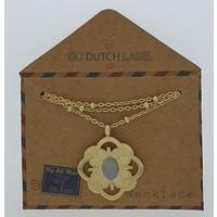 GO-DUTCH LABEL Go Dutch Label Necklace with pendant Baroque Gold