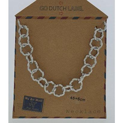 GO-DUTCH LABEL Go Dutch Label Edelstahlkette Runde Glieder 45 cm. Silberfarben