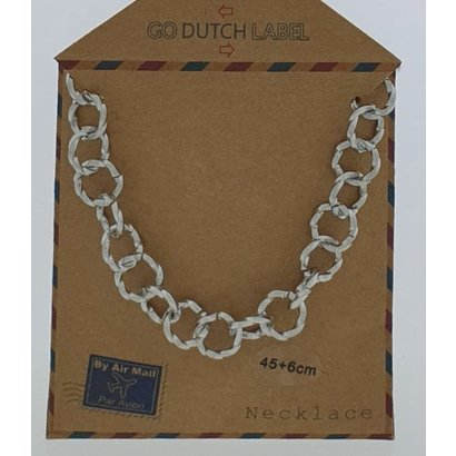 GO-DUTCH LABEL Go Dutch Label Stainless Steel Chain Round Links 45 cm. Silver colored