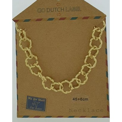 GO-DUTCH LABEL Go Dutch Label Stainless Steel Chain Round Links 45 cm. Gold colored