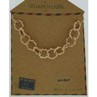 GO-DUTCH LABEL Go Dutch Label Chain Round Links Roségoldfarben