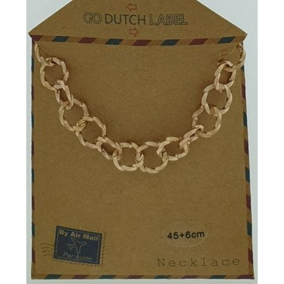 GO-DUTCH LABEL Go Dutch Label Stainless Steel Chain Round Links 45 cm. Rose gold colored