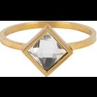 CHARMIN'S Charmins ring Modern Square Shiny Steel Gold