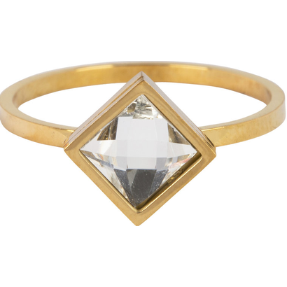 CHARMIN'S Charmins Modern Square Shiny Gold steel R729 from the fashion jewelry brand Charmin's.