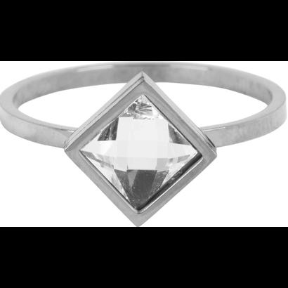 CHARMIN'S Charmins Modern Square Shiny Silver Stahl R728 von der Modeschmuckmarke Charmin's.
