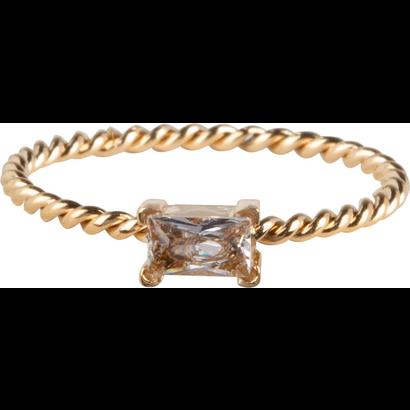 CHARMIN'S Charmins Twisted Queen Shiny Gold Stahl R768 von der Modeschmuckmarke Charmin's.