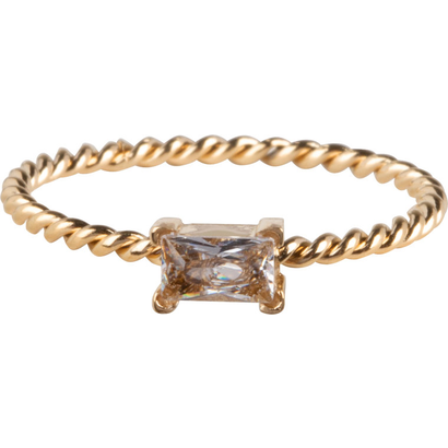 CHARMIN'S Charmins Twisted Queen Shiny Gold steel R768 from the fashion jewelry brand Charmin's.