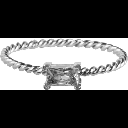 CHARMIN'S Charmins Twisted Queen Shiny Silver steel R767 from the fashion jewelry brand Charmin's.