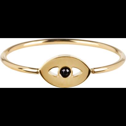 CHARMIN'S Charmins Mystic Eye Shiny Gold Stahl R764 der Modeschmuckmarke Charmin's.