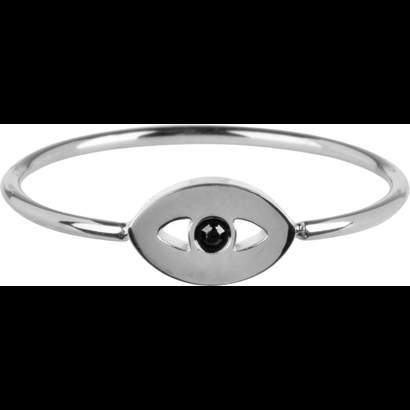 CHARMIN'S Charmins Mystic Eye Shiny Silver Stahl R763 der Modeschmuckmarke Charmin's.