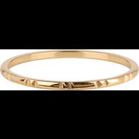 CHARMIN'S Charmins Ring 12 Mark Shiny Steel Gold