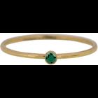 CHARMIN'S Charmins Ring Shine Bright Gold Stahl Smaragd