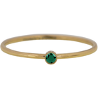 CHARMIN'S Charmins ring Shine Bright Gold Steel Emerald