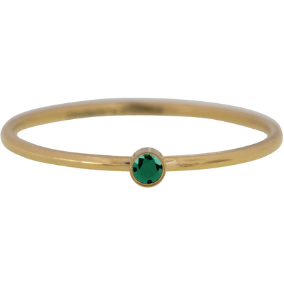 CHARMIN'S Charmins Shine Bright Emerald steel stacking ring R790