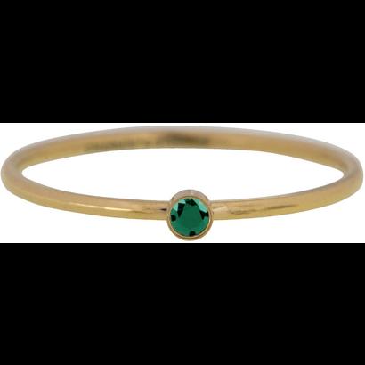 CHARMIN'S Charmins Shine Bright Smaragd Stahlstapelring R790
