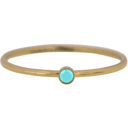 CHARMIN'S Charmins Shine Bright Turquoise steel stacking ring R789