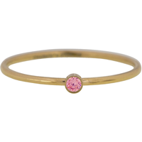 CHARMIN'S Charmins Ring Shine Bright Gold Steel Pink