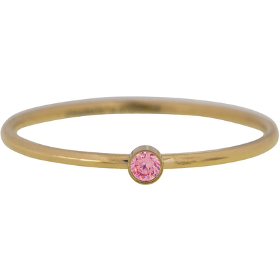 CHARMIN'S Charmins Shine Bright Pink steel stacking ring R791