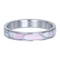 IXXXI JEWELRY RINGEN iXXXi Schmuckscheibe 4mm Silber Keramik Pink Paradise