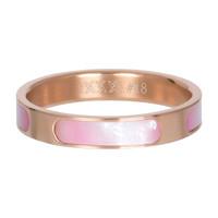 IXXXI JEWELRY RINGEN iXXXi Jewelry Vulring Aruba 4mm Staal Rosegoud met parelmoer